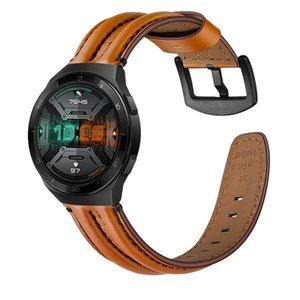 Wholesale watch real high quality for sale - Group buy New design Real cowhide watch strap for huawei watch gt2e high quality real leather watch band for huawei GT2E