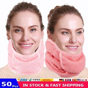Wholesale mouth nose masks for sale - Group buy Winter Warm Scarf Fleece Earmuffs Riding Ski Snowboard Half Face Scarf Mouth And Nose Face Covers Washable Reusable Mask FY9234