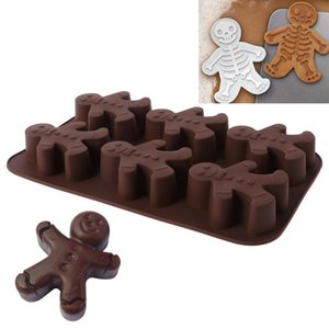 Wholesale biscuit man for sale - Group buy 3D Christmas Gingerbread Man Silicone Mold Fondant Chocolate Cake Biscuit Cookie Molds Sugarcraft Cake Decorating Mould