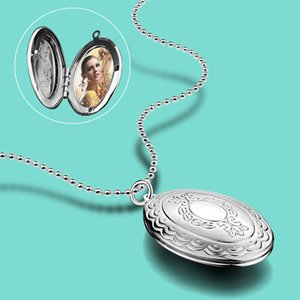 Wholesale rose colar for sale - Group buy Bohemian Women s Original Silver Necklace Creative Photo Box Pendant Necklace Custom Photo Commemorative Jewelry Gift colar Q0127
