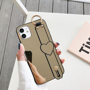 Wholesale mirrors for makeup for sale - Group buy Makeup Mirror Bumper Phone Case For iPhone Pro Max XR XS Max X Plus Pro SE Stand Holder Wrist Strap Back Cover