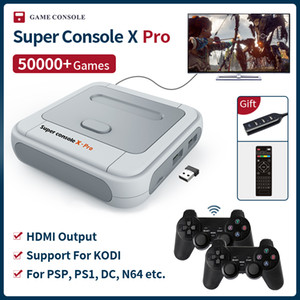 Wholesale game arcades resale online - Super PSP PS1 N64 DC arcade game console Console X Pro S905X HDMI WiFi Output Mini TV Video Game Player For Dual system Built in Games