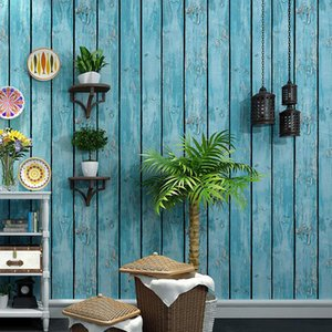 Wholesale antiques stores for sale - Group buy Retro Nostalgic Retro Wallpaper Antique Wood Bar Cool Fashion Women s Clothing Store Barber Shop Wood Grain Wallpaper