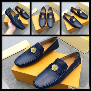 Wholesale men shallow shoes resale online - C1 BS NEW DESIGN GENUINE LEATHER MEN Casual SHOES Shallow Slip On Formal SHOES Solid Man Business DRESS SHOES Male LOAFERS