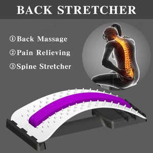 Back Stretch Massager Equipment Magic Back Stretcher Fitness Lumbar Support Relaxation Spine Pain Relief Therapy Health Care