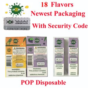 Top quality Newest packaging pop disposable device 18 colors with security code in 280mah battery 1.2ML Vape vs puff plus xxl disposable