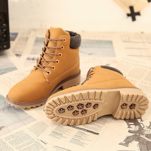 Wholesale winter timber resale online - Women Winter Waterproof Yellow Boot Women Rivets Ankle Martins Boot Military Boots Work Shoes Timber Land Men Boots Plush BOOTS