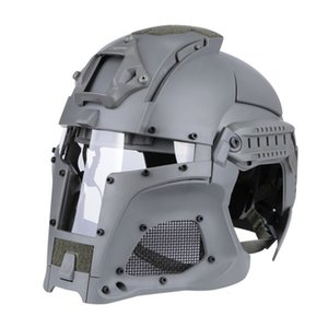 Wholesale tactical helmet paintball mask resale online - Tactical Ballistic Side Rail NVG Shroud Transfer Base Combat Airsoft Paintball Full Face Mask Helmet
