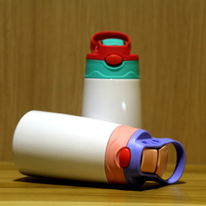 Wholesale water bottle insulation sleeves for sale - Group buy 12oz Sublimation Sippy Cup sublimation Children Water Bottle with straw lid Portable Stainless Steel Drinking tumbler Sea Shipping OOA9057