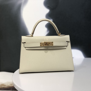 Wholesale white gold process resale online - Wallet Luxury Leather Handbag Messenger Epsom Thread White Wax Handmade Bag Milkshake Process Sewing Designer Gold Buckle Cm Axlrb
