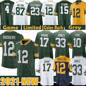 ingrosso alessandro-12 Aaron Rodgers Jones Davante Adams Football Jersey Love Darnell Savage JR Argilla Matthews Kevin King Bart Starr Jaire Alexander Favre