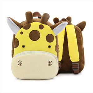 Wholesale bags monkey for sale - Group buy Lion Shark Bee Monkey Mini Schoolbag Backpack for Children New Cartoon Kids Plush Backpacks School Bags Girls Boys Colors