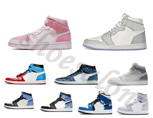 ingrosso scarpe da ginnastica basse-2020 Arrivals OG High Low Mens Womens J Balvin x s Basketball Shoes Rookie of aj1 union the Year Shattered Crimson Tint Sneakers pink Trainers