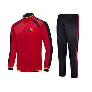 20 21 Stade Rennais Football Club Tracksuit Men Training Uniforms Kids Thai Quality Club Set With Logo Adult sportswear