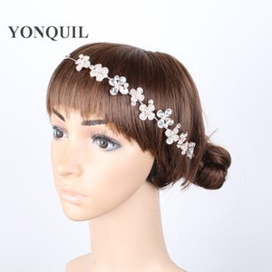 ingrosso jewerly capelli-Rose GoldWhite Bride Accessori per capelli Accessori per capelli Strass Fiore Bridal Tiades Hair Jewerly Accessori da sposa SyBC36