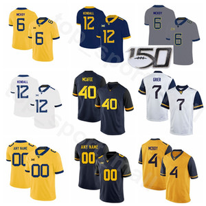 pat mcafee venda por atacado-Homens Mulheres Juventude NCAA College Football Will Grier Jersey West Virginia Mountaineers Pat McAfee Austin Kendall Kennedy McKoy David Sills V