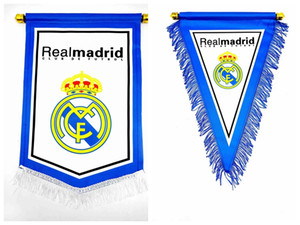 Wholesale game for football resale online - Fans Flag Football Flag Gift For captain game Manchester Real Madrid Bayern PARIS messi M SALAH Football Fan Soccer exchange Hang flags