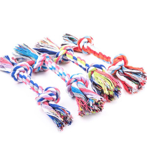 Wholesale blue chews for sale - Group buy Pets dogs pet supplies Pet Dog Puppy Cotton Chew Knot Toy Durable Braided Bone Rope CM Funny Tool Random Color PPD3731