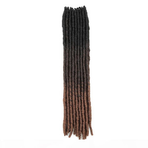 extensions de cheveux d'or achat en gros de-news_sitemap_home18 Synthetic Faux Locs Tressant Extensions de cheveux Ombre Dreadlocks Crochet Braids Droite Déesse Locs Hair Golden Beauté