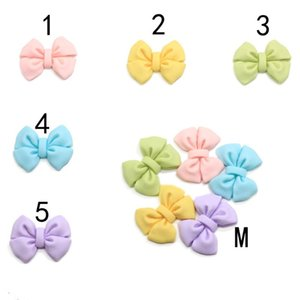 Wholesale resin bow flatback for sale - Group buy 10 New Arrive Flatback Resin Bowknot Cabochons Colorful Bowtie Craft DIY Jewelry Phone Hair Bow Decoration