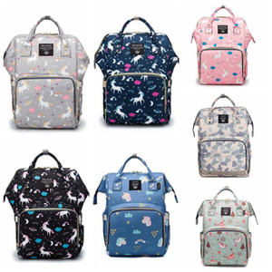 Wholesale designer backpack diaper bags resale online - Diaper Bag Mommy Backpack Waterproof Mommy Nappy Bag Large Capacity Travel Backpack Baby Nursing Stroller Bags With Hook DWD2121