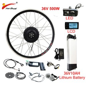Wholesale hub motor bike resale online - EU RU Duty Free No Tax V W eBike Kit V10AH Lithium Battery ebike Electric Bike Conversion Kit Front Rear Hub Motor Wheel