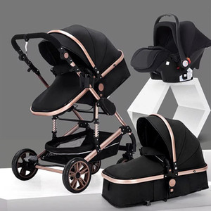 Wholesale newborn car seats for sale - Group buy Baby Stroller in Portable Baby Carriage Fold Pram Aluminum Frame High Landscape Stroller for Newborn trolley car seat