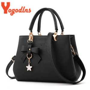 Wholesale bag lady for office for sale - Group buy Yogodlns Elegant Women Messenger with flower pendant Office Ladies Totes Pure Handbag for female Crossbody Shoulder Bags Q1107