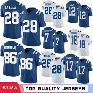 17 Philip Rivers Men Football Jerseys 28 Jonathan Taylor 86 Michael Pittman Jr 13 T.Y. Hilton 7 Jacoby Brissett 12 Andrew Luck Manning 2021