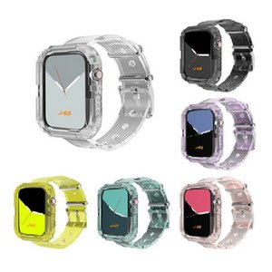 Wholesale strap ones for sale - Group buy 2020 New transparent one piece silicone sport strap For Apple Watch mm mm mm mm Watch strap protection case