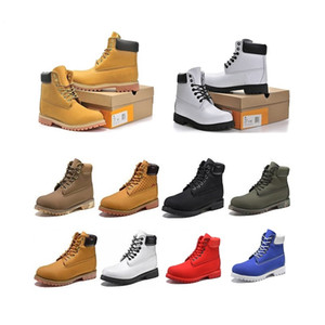 Wholesale mens shoes wide resale online - 2021 man boots designer mens womens shoes High Quality Ankle winter boot for cowboy classic yellow blue black pink hiking work