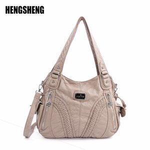 Wholesale europe pillow for sale - Group buy Europe and America PU Lady Handbag Pure Color Women s Handbags Various Colours Single Shoulder Diagonal Straddle Bag ZF9645 Q1116