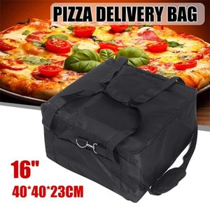 pizza-boxen großhandel-16 Zoll Speicher Oxford Cloth Pizza Delivery Bag Durable Tragbare Container Halter Thermal Stärke Insulated Box Fresh Food Q1104