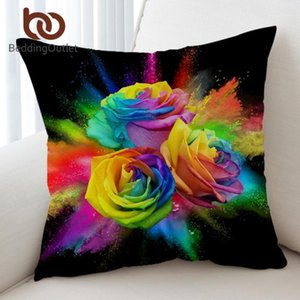 ingrosso rose colorate-BedDoutlet Colourful Roses Cuscino Coperture Doppio lato cuscino stampato copertura floreale cuscino floreale D acquerello kussenhoes x45cm1