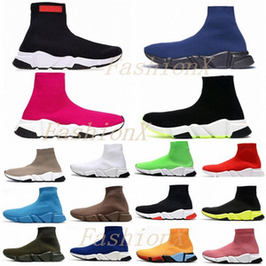 Wholesale gold toe socks for sale - Group buy 2021 designer men women speed trainer sock boots socks boot casual shoes shoe runners runner sneakers Casual Shoes dtKN