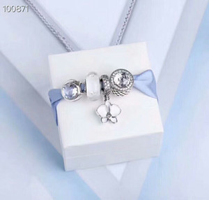 100% S925 Silver Beads Sparkling white Daisy Charms Rracelet Fits European Jewelry Bracelets Charm