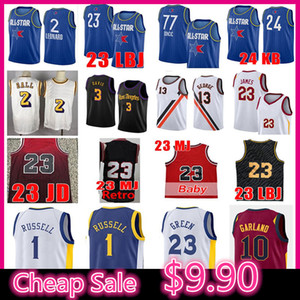 Wholesale purple garlands resale online - Anthony Davis Lonzo D Angelo Ball Russell Basketball Jersey Luka Darius Garland Doncic Kawhi MJ JD Leonard Los Draymond Angeles Green