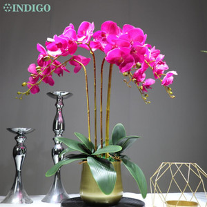 Wholesale orchid potting for sale - Group buy Set Bonsin Real Touch Purple Orchids Traditional DIY Flower Arrangment With Pot Event Centerpiece Free Decorative Flowers Wreaths