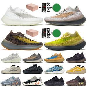 Wholesale silver pepper for sale - Group buy With Box Kanye West Women Mens Running Shoes Calcite Glow Reflective Pepper Onyx Lmnte Blue Oat Mist Alien Trainers Sneakers
