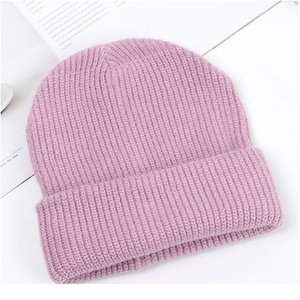 Wholesale c c beanie resale online - Women Knitted Winter Hat Female Warm Rabbit Fur Beanie Girls Solid Bonnet Woman Skullies Beanies Soft Winter C jllMJD