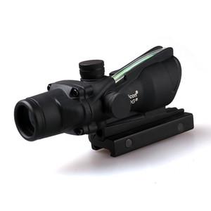 Trijicon ACOG 4X32 Fiber Sights Optics Tactical Sights Rifle Scope Cross The Hunter Hunting Llluminating Microscope Black