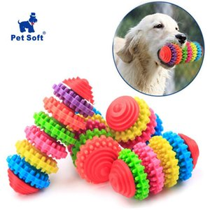 Wholesale chew gum resale online - Pet Chew Toys Dog Bones Toy Clean Teeth Colorful Rubber Pet Puppy Dental Teething Healthy Teeth Gums Play Training Fetch Fun Toy