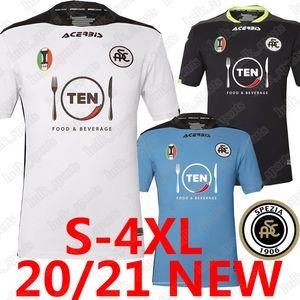 2020 2021 Spezia Calcio soccer jerseys Size 4XL A.Galabinvo E.Gyasi Ricci Lucio Gaera Verde Little eagles 20 21 football shirts uomini