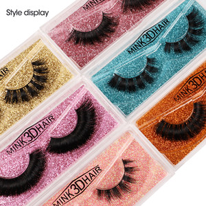 Wholesale eyelashes prices for sale - Group buy 2021 Top D False Eyelashes Natural Mink Eyelashes Colorful Card Makeup Multistyles Factory low price real mink HAIR false eyelash