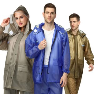 Wholesale rain suits resale online - Haixiang adult thickened split rain pants suit men and women fashion motorcycle battery waterproof riding raincoat