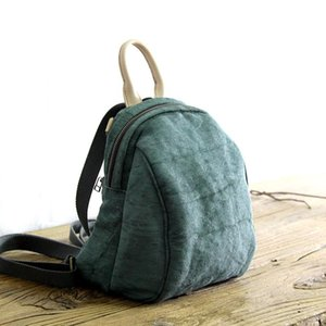 Wholesale handmade cloth bags for sale - Group buy 2021 Women s cotton linen Cloth backpack handmade female school all match Backpacks Multifunction Solid Color Casual bags