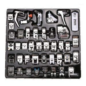 Wholesale singer sewing machines resale online - Sewing knitting Crochet Hooks Domestic Machine Stitch Darning Presser Foot Feet Kit Set For Brother Singer Janom1