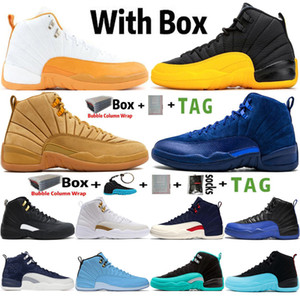 blau tennisschuhe großhandel-2020 mit Box Jumpman s University Gold UNC Mens Basketballschuhe Deep Royal Blue Hyper Jade Michigan Trainer Sport Sneakers Größe