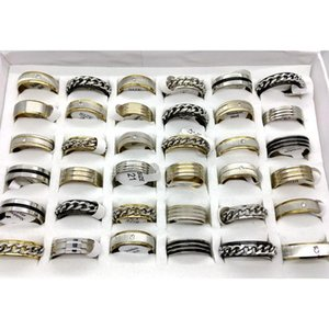 Wholesale stainless steel pa resale online - 36pcs Mixed Style Men s Womens Stainless Steel Rings Fashion Jewelry Pa wmtguE whole2019