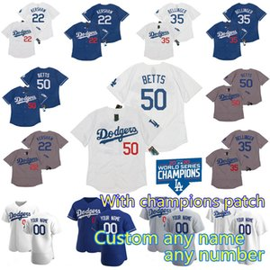 2020 World Series Champions 50 Mookie Betts Dodgers Jersey Cody Bellinger Corey Seager Justin Turner Clayton Kershaw Walker Buehler Muncy